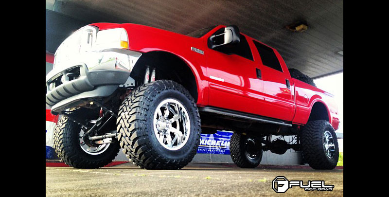Ford F-250 Super Duty with Fuel Deep Lip Wheels Maverick - D536