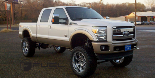2011 Ford F-250 Super Duty with Fuel Deep Lip Wheels Hostage - D530