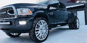 Dodge Ram 3500 with Fuel Dually Wheels FF45D - Rear