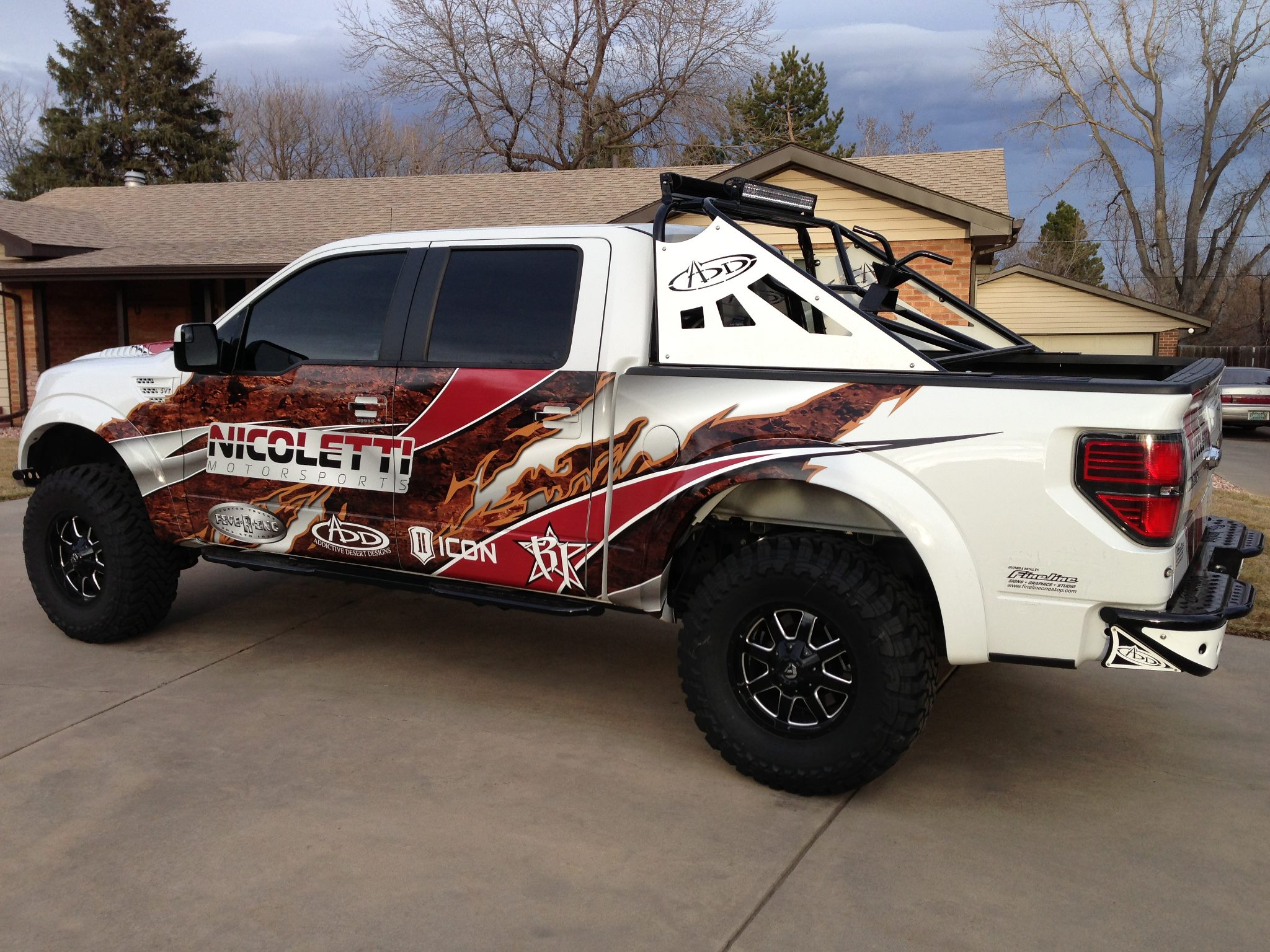 Ford f 150 with fuel 1 piece wheels frontier d535