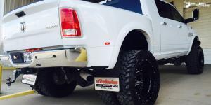 Dodge Ram 3500 Dual Rear wheel with Fuel 2-Piece Wheels