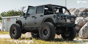 Jeep Wrangler with Fuel 1-Piece Wheels Anza Beadlock - D116
