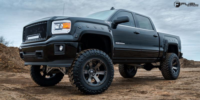 GMC Sierra 1500 with Fuel 1-Piece Wheels Beast - D564