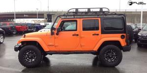 Jeep Wrangler with Fuel 1-Piece Wheels Boost - D534