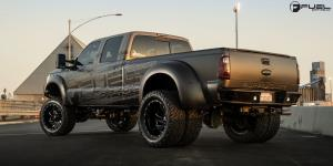 Ford F-350 Dually with Fuel Dually Wheels Cleaver Dually Rear- D239