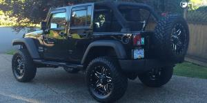 Jeep Wrangler with Fuel Deep Lip Wheels Full Blown - D554