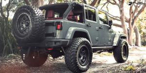Jeep Wrangler with Fuel 2-Piece Wheels Hostage II - D232