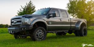 Ford F-350 Super Duty with Fuel Dually Wheels Hostage II Dually Rear - D232