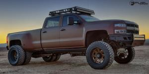 Chevrolet Silverado 3500 HD with Fuel Dually Wheels Hostage II Dually Front - D232