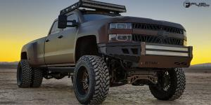 Chevrolet Silverado 3500 HD with Fuel Dually Wheels Hostage II Dually Rear - D232