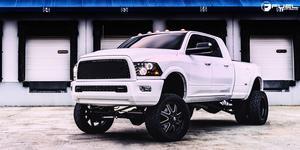 Dodge Ram 3500 Dual Rear Wheel with Fuel Dually Wheels Maverick Dually Front - D538