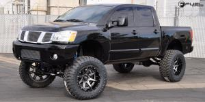 Nissan Titan with Fuel 2-Piece Wheels Rampage - D238
