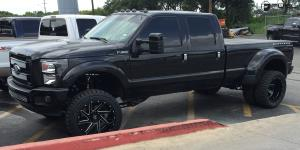 Ford F-350 Super Duty Dually with Fuel Dually Wheels Renegade Dually Rear - D265