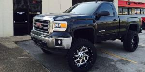 GMC Sierra 1500 with Fuel 2-Piece Wheels Renegade - D263