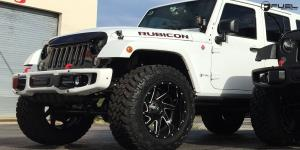 Jeep Wrangler with Fuel 2-Piece Wheels Renegade - D265
