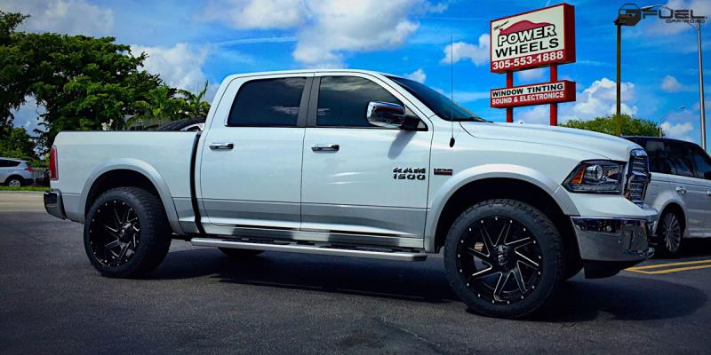 Dodge Ram 1500 with Fuel 2-Piece Wheels Renegade - D265