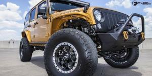 Jeep Rubicon with Fuel 1-Piece Wheels Savage - D565