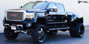 Full Blown - D254 on GMC Denali HD Dual Rear Wheel