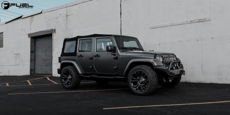 Jeep Wrangler with Fuel 1-Piece Wheels Vapor - D560