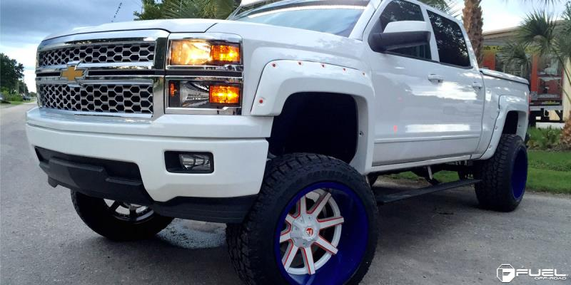 Chevrolet Silverado 1500 with Fuel 2-Piece Wheels