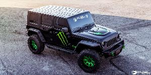 Jeep Wrangler with Fuel 2-Piece Wheels