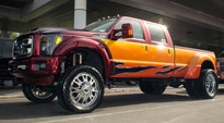 Ford F-350 Dually with Fuel Dually Wheels Throttle Dually - D213