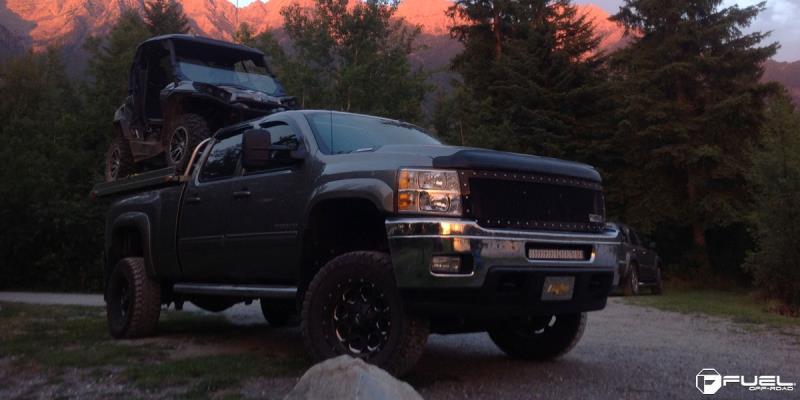 Chevrolet Silverado 1500 with Fuel 1-Piece Wheels Boost - D534