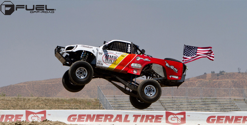 Toyota Tundra Trophy Truck with Fuel 1-Piece Wheels Anza Beadlock - D116
