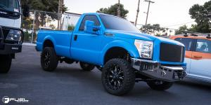 Ford F-250 Super Duty with Fuel Deep Lip Wheels Throttle - D513
