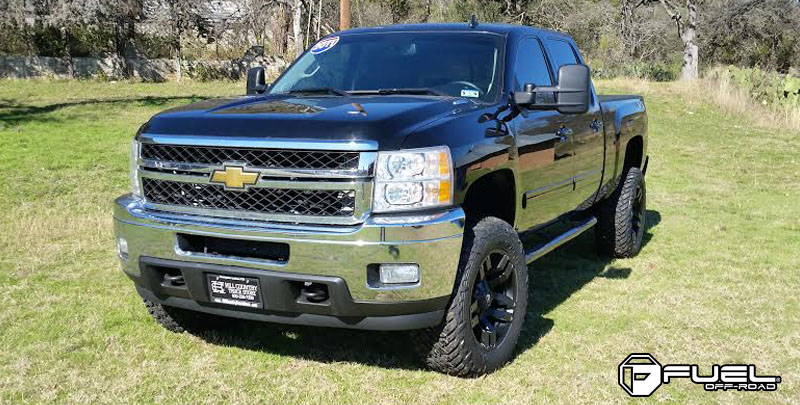 Chevrolet Silverado 1500 HD with Fuel 1-Piece Wheels