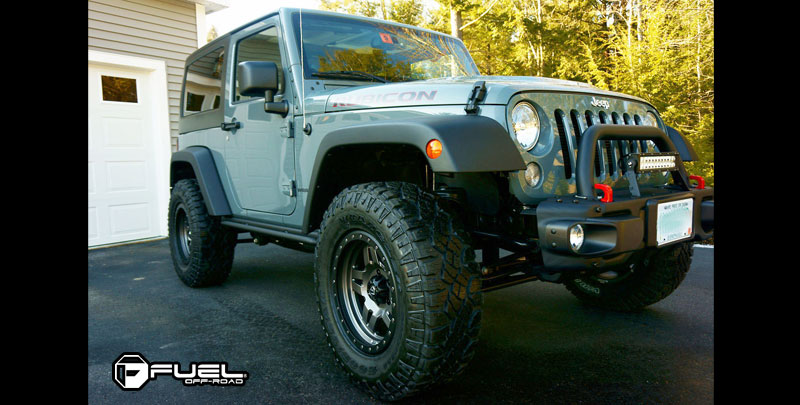 Jeep Rubicon with Fuel 1-Piece Wheels