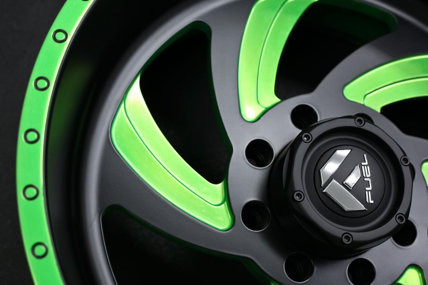 Niche Road Wheels >> FF10 | Matte Black w/ Lime Candy Green - Fuel Off-Road Wheels
