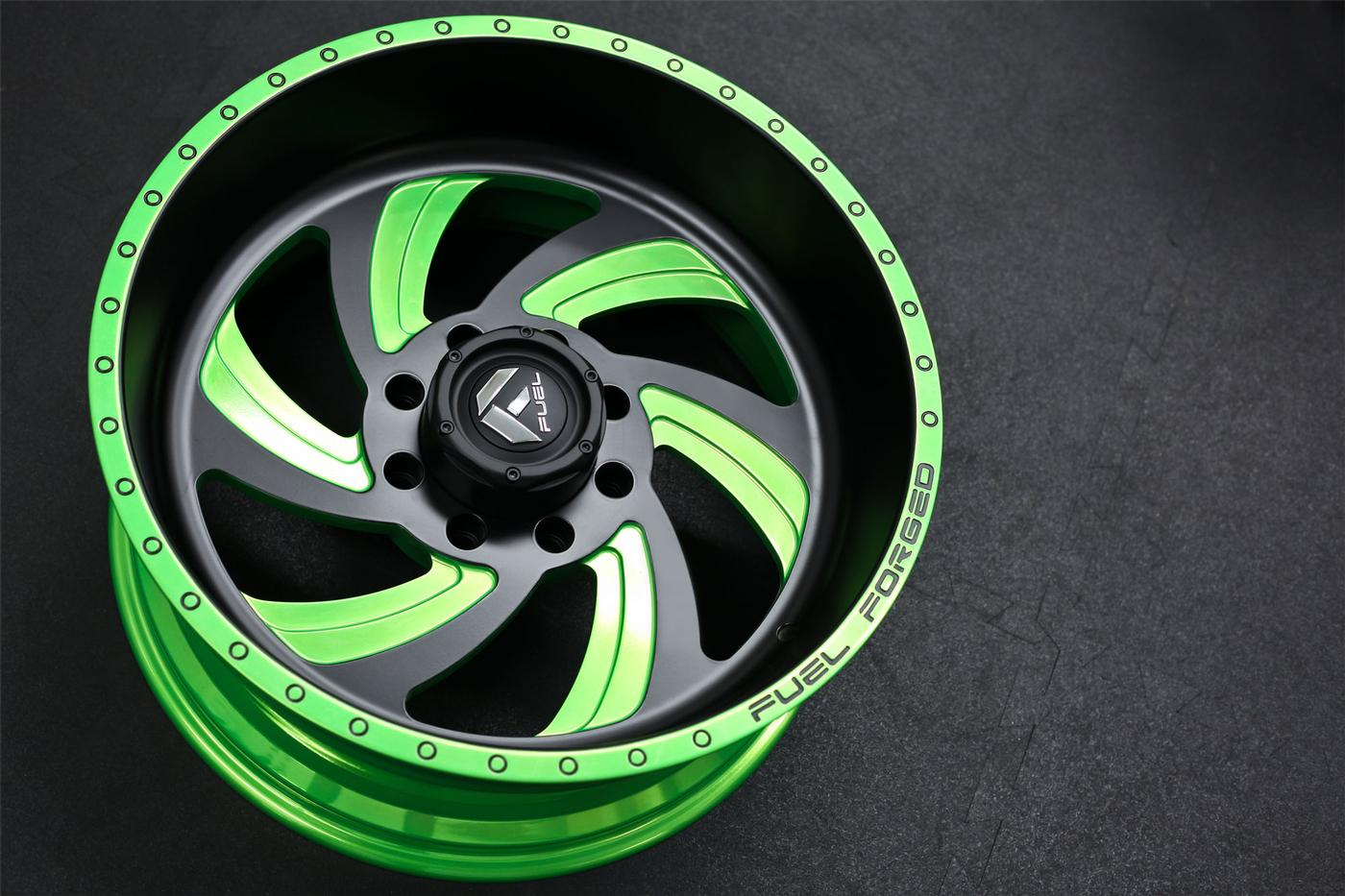 Ff10 Matte Black W Lime Candy Green Fuel Off Road Wheels