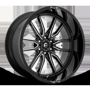 Clash 6 - D761 Gloss Black Milled - 24x12