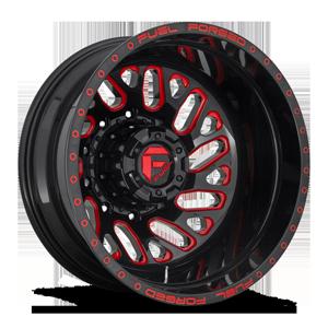 FF29D - Rear Gloss Black w/ Porsche Red Accents