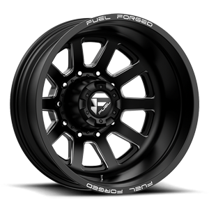 FF09D - 8 Lug Rear Matte Black Milled - 22x8.5