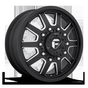 FF09D - 10 Lug Front Matte Black & Milled