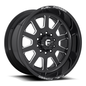 FF09D - 10 Lug Super Single Front Gloss Black & Milled