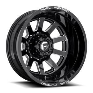 FF09D - 10 Lug Rear Gloss Black & Milled