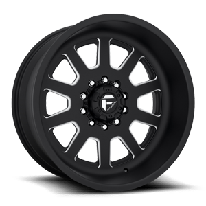 FF09D - 10 Lug Super Single Front Matte Black & Milled