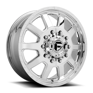 FF09D - 10 Lug Front Polished w/ Dimples