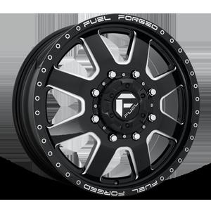FF09D - 8 Lug Front Gloss Black Milled