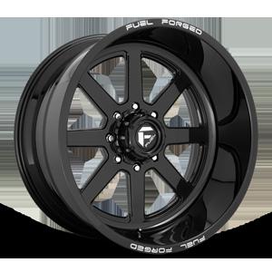 FF09D - 8 Lug Super Single Front Gloss Black