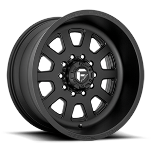 FF09D - 10 Lug Super Single Front Matte Black