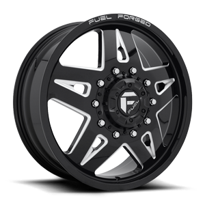 FF21D - Front Gloss Black & Milled