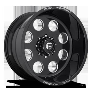 FF31D 8 Lug Super Single Front Gloss Black & Milled