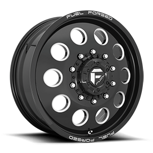 FF31D - 10 Lug Front Gloss Black & Milled