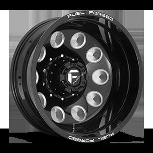 FF31D - 10 Lug Rear Gloss Black & Milled