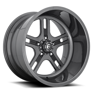 FF33 - 5 Lug Magnetic Metallic w/ Gloss Black Windows
