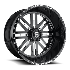 FF33 - 8 Lug Gloss Black & Milled